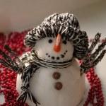 Fake snowman — Stock Photo