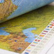 Royalty-Free Stock Photo: Opened book with map on it