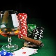 Drink and playing cards — Stock Photo #2645221