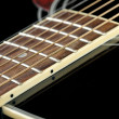 Stock Photo: Neck of black guitar