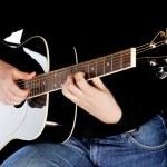 Man playing on guitar — Stock Photo #2645347