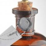 botella con media cosmética — Foto de Stock