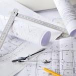 Drawings-blueprints — Stock Photo
