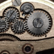 Watch gears close up - Stock Photo