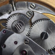 Stock Photo: Old watch gears close up