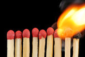 Row of matches — Stock Photo