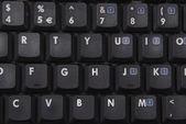 Notebook keyboard close up — Stock Photo