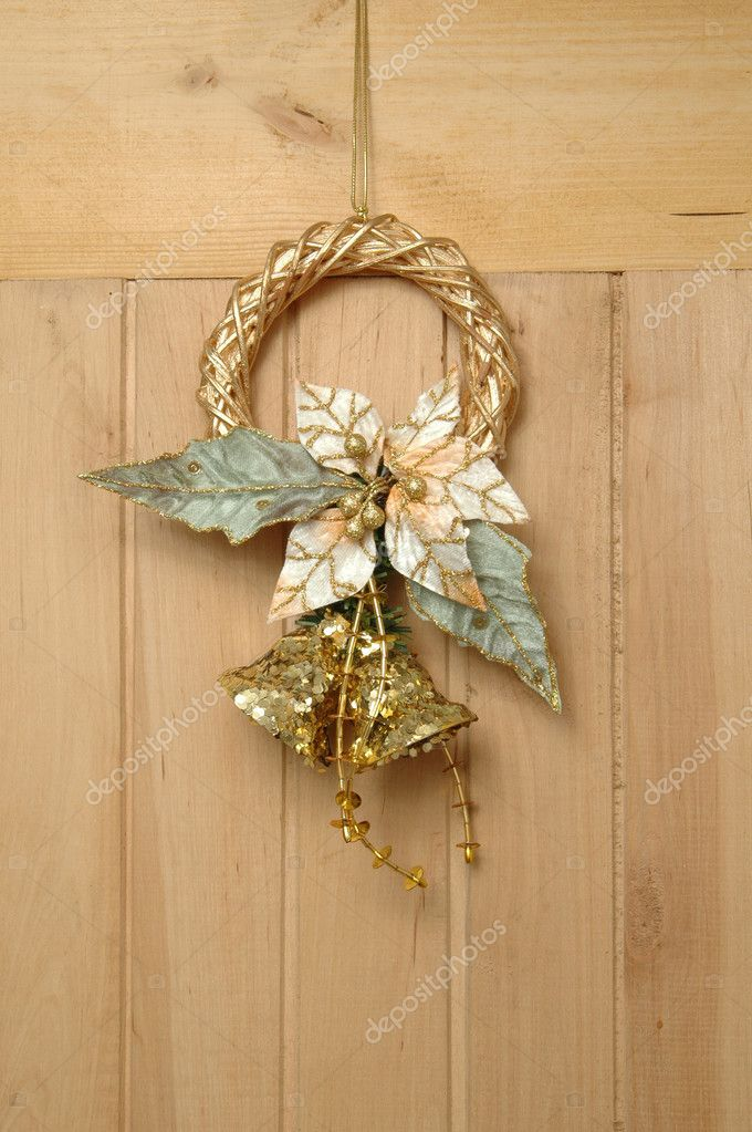 Christmas door bell suspended on door  Stock Photo #2644675