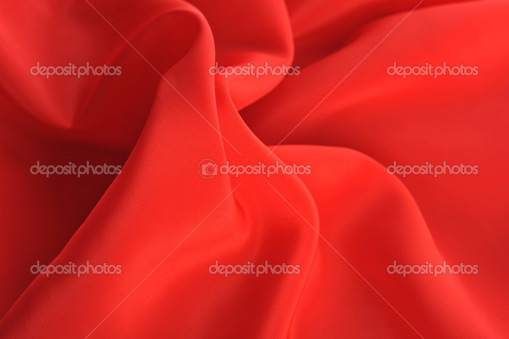 Red fabric ripple background close up  Stock Photo #2645131