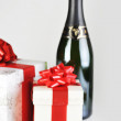 Chocolate in box and champagne — Stock Photo #2653046