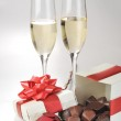 Champagne and chocolate — Stock Photo #2653085
