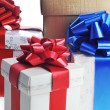 Packed gifts — Stock Photo