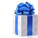 Gift box on white — Stock Photo