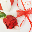 Stock Photo: Rose and letter
