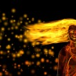 Woman figure made of flames — Stock Photo