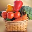 Vegetables in basket — Stock Photo