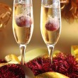 Champagne splashes — Stock Photo