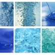 Different water bubles and drops - Stock Photo