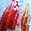 Bottles  with drink - Stock Photo