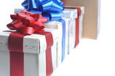 Gift boxes one bigger than another — Stock Photo