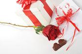 Chocolat et lettre — Photo