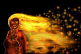 Fire girl — Fotografia Stock