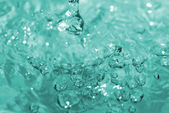 Bubbles in a water close up — Stock Photo