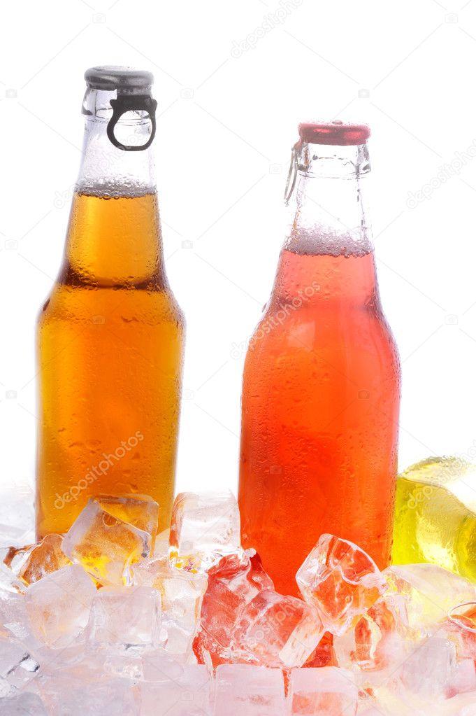 Бутылка с напитком