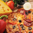 Tasty pizza on  plate — Stock Photo