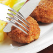 Roasted cutlets of pork — Stock Photo