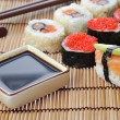 Traditional Japanese sushi — Stock Photo
