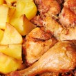 Chicken with  potato - Stock Photo