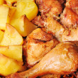 Chicken with potato — Stock Photo #2663110