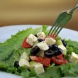 Stock Photo: Salat with feta cheese and fresh vegetables