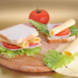 Fresh and tasty sandwich — Stock Photo