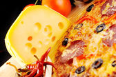 Pizza with cheese — Stock Photo