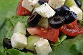 Salat with feta cheese — Stock Photo