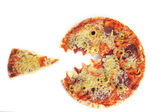 Angry pizza — Stock Photo