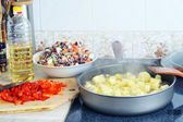 Preparation of ragout — Stock Photo