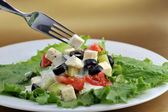 Salat with feta cheese — Stock Photo