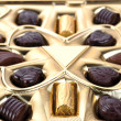 Chocolate in box close up — Stock Photo #2672386