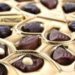 Chocolate in box close up — Stock Photo