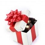 cioccolato diverso nella casella — Foto Stock