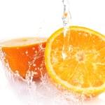 Orange with splash — Stock Photo #2672621