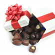 Different chocolate in box — Stock Photo