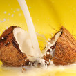 Coconut milk splash — Stock Photo