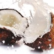 Cracked coconut with splash — Stock Photo #2672713