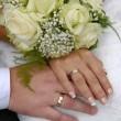 Bride and groom hands — Stock Photo #2673465