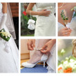 Bride body parts — Stock Photo