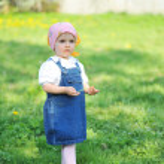Girl in blue dress — Stock Photo #2673694
